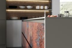 Ferro Oxidized Copper & Rezana Espresso Oak