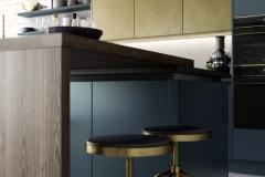 Zola Matte Blue & Ferro Brass