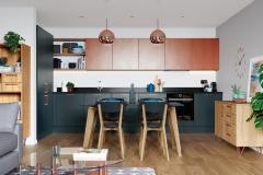 Zola Matte Marine & Ferro Copper with Rezana Light Oak